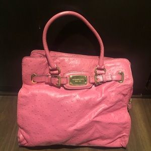 Authentic Rare pink Michael Kors ostrich bag